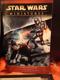 collector's Star Wars Miniatures starter game and add on figures perfect condition