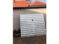 Garage door , metal, up and over, white