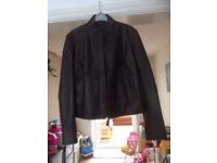Leather Jacket - Brown, size 12-14