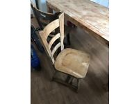 For sale oak dining table and 6 teak chairs project