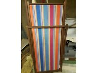 Stripe deck chairs
