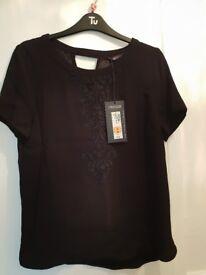 Black M&S top size 10 BNWT