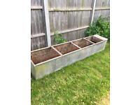 Vintage galvanised planter tank