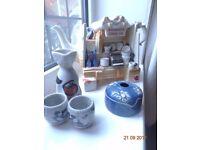 Woodmanton Ceramic Collectors Teapot, Kenmoku Ceramic Pot handmade with Lid, Sake Set Handmade