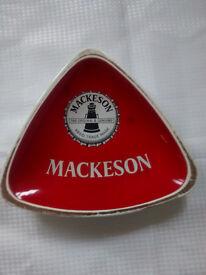 MACKESON PUB ASH TRAY - PUB MEMORABILIA