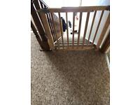 Wooden baby stair gate
