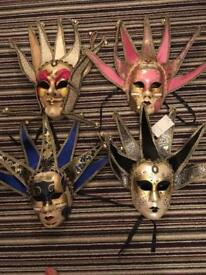 Masquerade, masks, to wear or mount on a wall