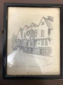 Vintage pencil drawing