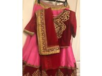Red/pink lengha brand new