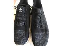 Boys Adidas black trainer