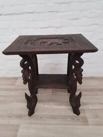 Carved Side Table (DELIVERY AVAILABLE FOR THIS ITEM OF FURNITURE)