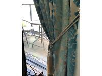 Laura Ashley curtains.