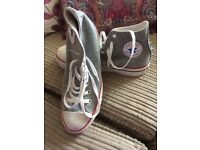 Converse wedge in grey 6.5