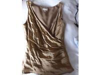 Beautiful gold top size 10 from Phase Eight as new