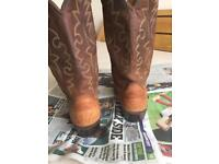 brown cowboy boots size 8/9