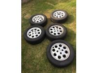 5 Ford Sierra wheels and tyres as new