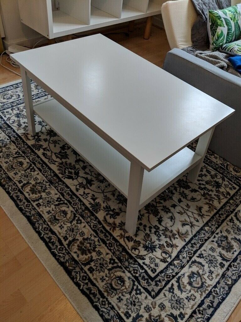 cheap for discount 2e485 fe9fb Ikea furniture: LUNNARP Coffee table White + FREE Ikea shoe rack MUST GO  THIS WEEK!! -MAKE AN OFFER | in Hackney, London | Gumtree
