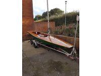Fireball K12727 Racing sailing dinghy - £400 ono