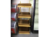 4 Teir Display Stand with Wicker trays