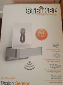 Designer Steinel L820 iHF Aluminium 12.5W LED Sensor Light with House Number Information