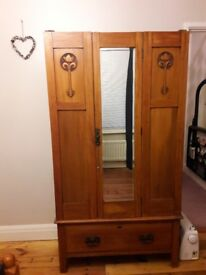 Arts and crafts style wardrobe