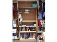 Birch Bookcase 5 shelves 180cm by 80cm