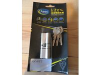 Asec Kite Elite 40/40 anti-snap Euro cylinder lock for uPVC doors