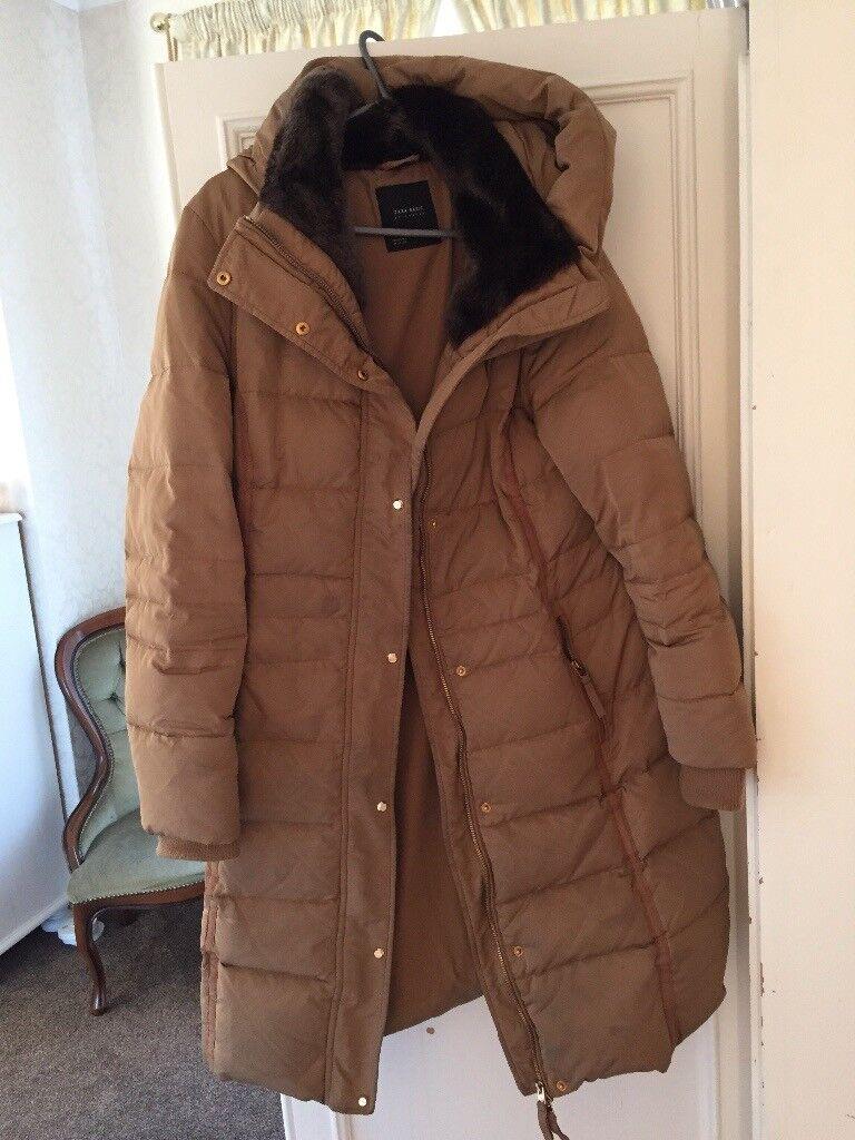 Ladies brown Zara coat size medium £20