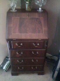 small mahogany bureau