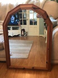 Solid pine arch mirror