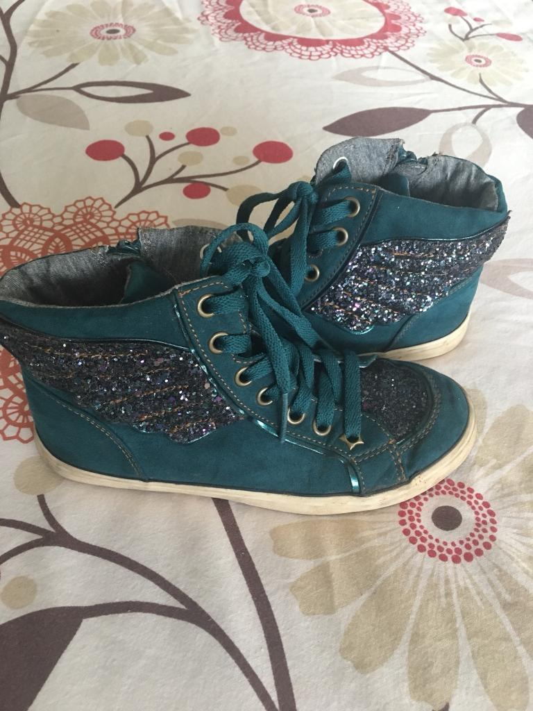 Teal high tops size 13