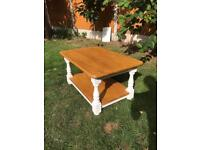 Shabby chic solid pine coffee table