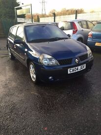 2004 renault clio 1.2 dynamique 5dr LOW MILAGE only 63k miles/alloys wheels 2 keys