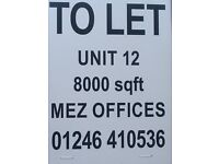 Large industrial unit to rent let in Dronfield Sheffield Chesterfield