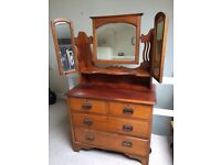 Antique chest of drawers/ dressing table