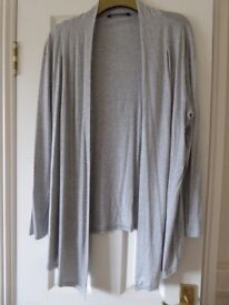 3 Waterfall Style Cardigans Size 16/18 - 2 Grey. 1 Black - Excellent condition