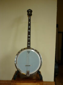 Vintage Wm Lange 'Challenger' Tenor Banjo in VGC