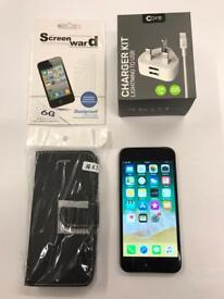 iPhone 6 128GB Space grey EE with case