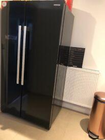 Brand New Black Gloss Fridge Freezer