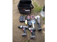 Porter cable. 18 volt Impact driver, drill and grinder.