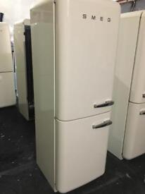 LOVELY CREAM FAB32 SMEG FRIDHE FREEZER LHH. WITH WARRANTY/CAN DELIVER