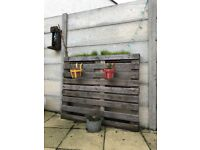 PALLET PLANTER WITH 2 PLANTING SECTIONS - DEAL FOR ALL 3
