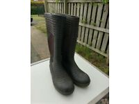 Mens Black Wellington Boots Size 10 Willies