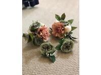 Bridesmaid Bouquet x2 and Buttonhole x2