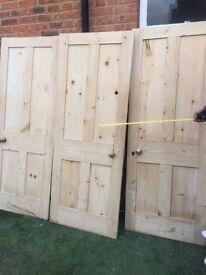 original victorian unpainted doors - 2 remaining