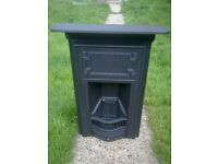 Victorian cast iron fireplace original black