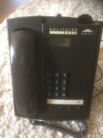 Solitaire 6000 Coin Operated Pay Phone Payphone with key.