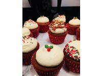 Professional Christmas Themed Cupcakes