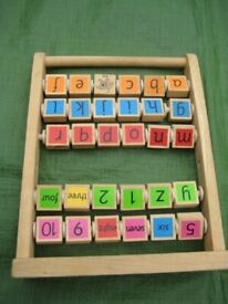 Double Sided Wooden Abacus Learning Frame for £5.00