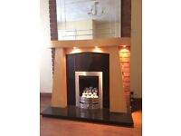 Modern Gas fire with free surround